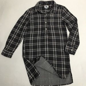 Old Navy Grey and White Plaid Dress Size 8
